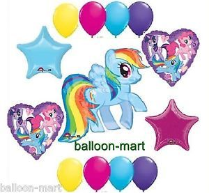 My Little Pony Rainbow Dash Birthday Party Supplies Balloons Set Colorful Stars