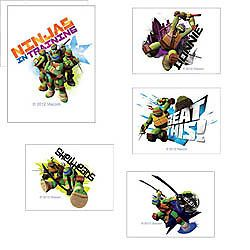 24 Teenage Mutant Ninja Turtles TMNT Tattoos Party Favor Teacher Supply Rewards