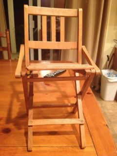 Vintage Antique Wooden Folding Chair Cottage Country Shabby Decor