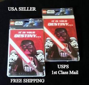 Lego Star Wars Invitation Cards Boy Girl Birthday Party Favors Supplies 2pk