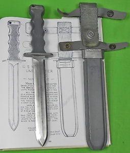 US Vietnam Era Navy UDT EOD Imperial Nonmagnetic Fighting Knife Scabbard