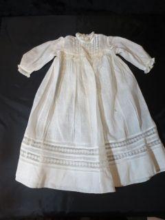 Vintage Antique Baby Clothes Victorian Baptism Baptismal Christening Gown Dress
