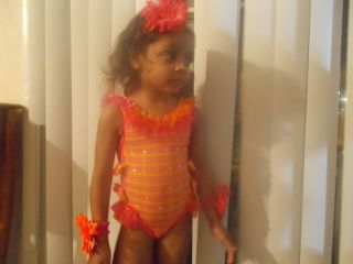 National Pageant Wear Glitz Pageant Swimwear Size 24 MO Loaded with Stones