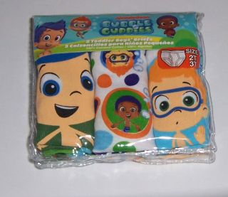 Bubble Guppies Characters Cotton Underwear 7 Briefs Toddler Boys