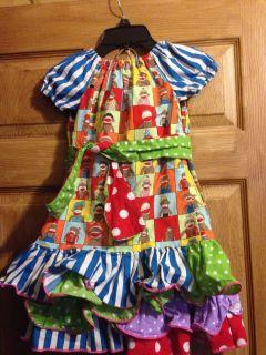 Adorable Sock Monkey Casual Pageant Wear OOC Size 3 4
