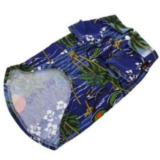 Hawaiian Print Pet Dog Shirt Summer Camp Shirt Party Beach Clothes Apparel XS