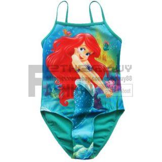 Girl Kids Ariel Mermaid Swimsuit Swimwear Swimming Costume 2T 3T 4T Bathing Suit