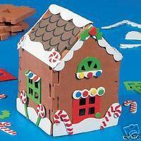 Gingerbread House 3 D Foam Craft Kit Christmas Kid Safe