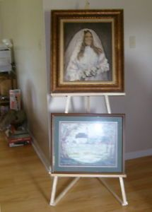 2 Tray Display Large Super Sturdy Easel Artist Painting Easels New