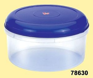 6 PC Plastic Food Storage Containers Set of 3 Five Qt Containers with Lids