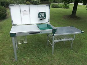 Coleman Camp Kitchen | Vtg Coleman Packaway Camp Hunting Kitchen Stainless Aluminum Camping