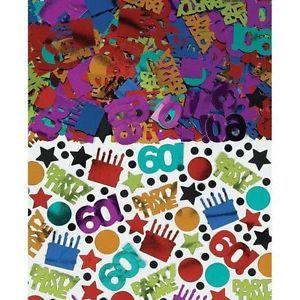 Happy 60th Birthday Party Ideas Supplies Favors Metallic Table Confetti 2 5oz
