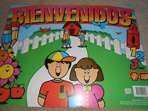 Bienvenidos Spanish Classroom Chart Educational Poster Classroom New