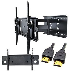 "32 60"" Dual Arm Articulating Swivel TV Full Motion Wall Mount Plasma LCD LED"