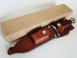 Vintage US Vietnam Era Garcia Brazil Hackman Survival Fighting Knife w Box