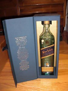 RARE Johnnie Walker Blue Label 750ml Bottle Top Box Empty Johnny Walker