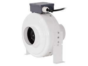 """4"""" Inline Duct Fan Blower Hydroponic Grow Room Air Vent Exhaust 4 Carbon Filter"""