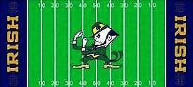 Notre Dame Fighting Irish Football Cross Stitch Pattern