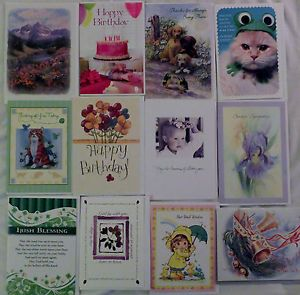 Lot of 50 All Occasion Christian Greeting Cards Birthday Get Well Etc