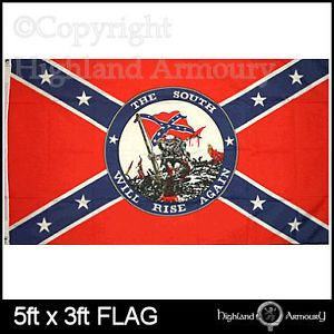 Cotton Confederate Flag 3 x 5