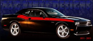 Rally Style Stripe Kits Vinyl Decal Sticker Fits 2011 2013 Challenger RT