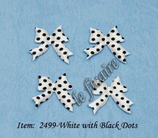 Polka Dots Satin Ribbon Bow Ties Embellishments Dolls
