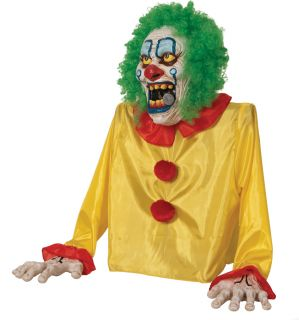 Smokey The Clown Animated Fog Prop Creepy Party Haunted House Decor Halloween