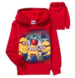 Minions Despicable Me Toddler Girls Jumpe Boys Costume Fleeced Hoodies Kids Gift