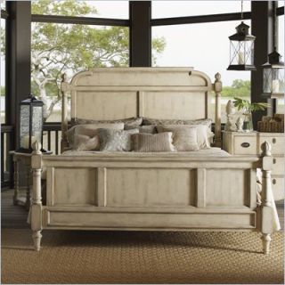 Lexington Twilight Bay Hathaway Panel Bed in Antique Linen   01 0351 14XC