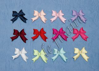 Small Satin Ribbon Bow Ties Appliques Baby Trims 120pcs