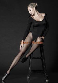 Professional Dancer Showgirl Fishnet Tights Pantyhose Size C D Suntan