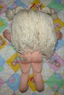 Vintage Mattel 1996 Cabbage Patch Kids Girl Blonde Hair Blue Eyes Outfit Clothes