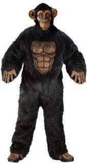 Comical Chimp Adult Mens Costume Funny Monkey Safari Ape Theme Party Halloween
