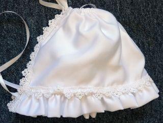 New Baby Girls White Christening Baptism Wedding Dress Bonnet Size 12 Months