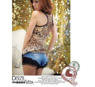 Hot Sexy Girls Woman Nightclub Pole Dancing Summer Jazz Shorts Lace Jeans Pants
