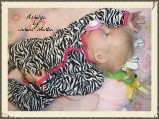 Reborn Real Baby Doll Ashelyn by Serena Martin Amazing High Quality Guaranteed