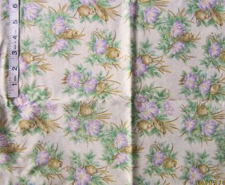 2 yd 'Song of Spring' Print Cotton Fabric RJR Fashion 4 Quilters by Quilters