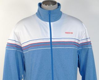 Adidas Originals Signature Heather Blue White Track Jacket Mens