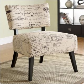 Coaster Over Sized Accent Chair with French Script Pattern   902114