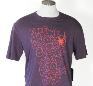 Spyder Evil Eye Mens Purple SS Tee Shirt