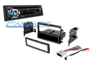 ★ Car Stereo Radio Kit Dash Installation Mounting Trim Bezel w Wiring Harness ★