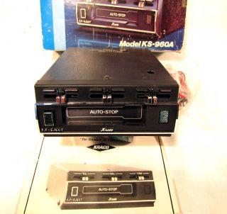 Vintage New Kraco KS 960A Super Mini Cassette Tape Deck Player Car Stereo Radio