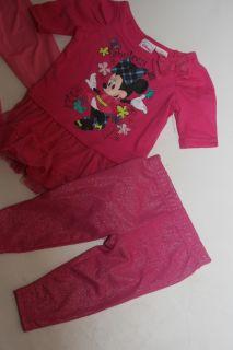 New Baby Girls 12 18M Disney Minnie Mouse Tutu Dress w Leggings Princess Shirt