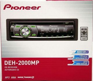 08 PIONEER DEH P2000MP CAR CD/ PLAYER 50x4 STEREO RECEIVER