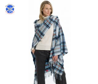 Luxury Lambswool Serape in Princess Diana Memorial Tartan