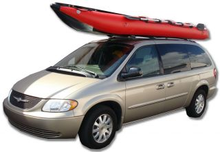 15ft Saturn Inflatable Crossover Kayak Boat Kaboat SK470 Red Gray w Oar Locks