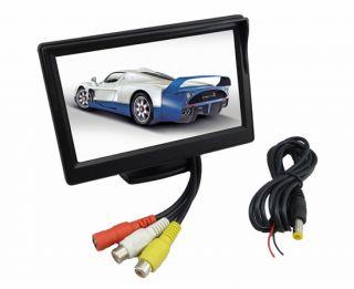 """5"""" TFT LCD Car Rear View Monitor 2 4G Wireless Car Backup Camera Night Vision"""