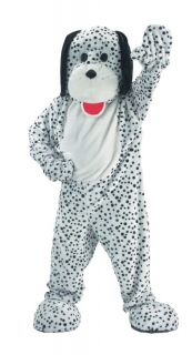 Dalmatian Mascot Adult Costume Doggie Breed Jumpsuit Cool Animal Theme Party