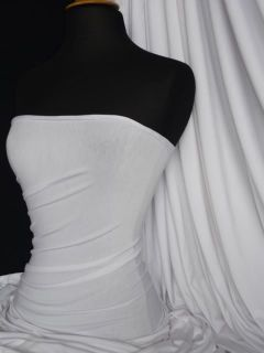 Pure White Viscose Cotton Stretch Lycra Fabric Material