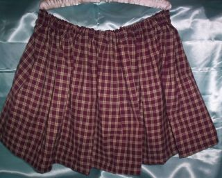 Custom Made Womens Mens Adult Sissy CD TV Sexy School Girl Mini Skirt Red Plaid
